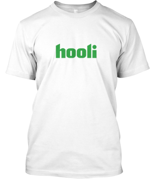 Limited Edition Hooli Shirt   White White T-Shirt Front