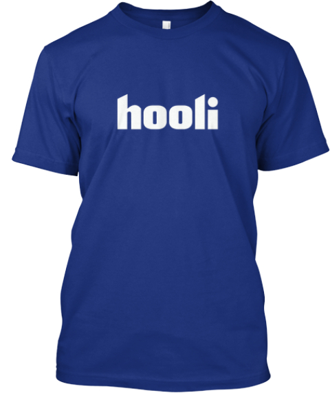 Limited Edition Hooli Shirt   Blue Deep Royal T-Shirt Front