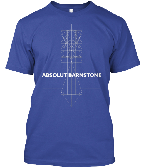 Absolut Barnstone Deep Royal T-Shirt Front