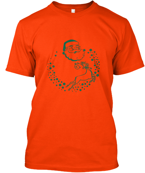 New Christmas Day T Shart Orange T-Shirt Front