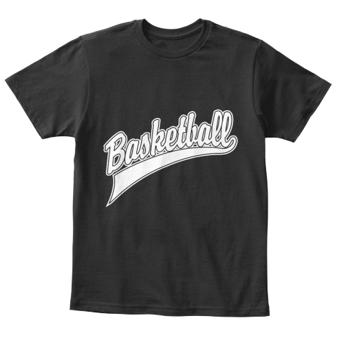 Basketball Black T-Shirt Front