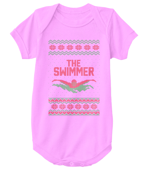 swimmer christmas sweater for baby from cheap ugly christmas the swimmer pink t shirt front
