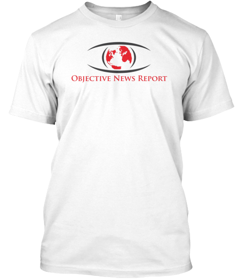 Objective News Report White T-Shirt Front