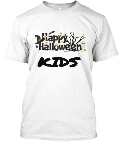 Happy Halloween Kids White T-Shirt Front