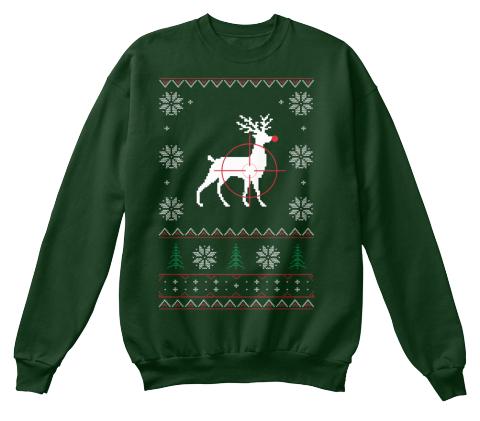 redneck christmas deep forest sweatshirt front - Redneck Christmas Sweaters