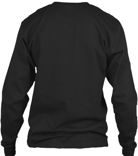 My Auntie The Busker Black Long Sleeve T-Shirt Back