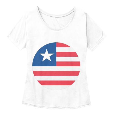 USA Flag Emoji Tee