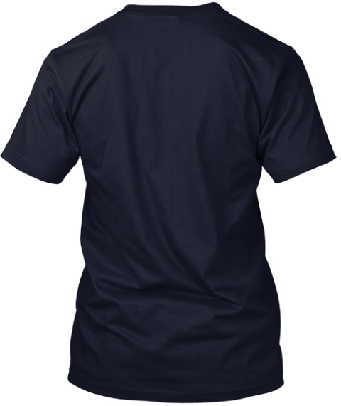 Ain't No Luck Navy T-Shirt Back