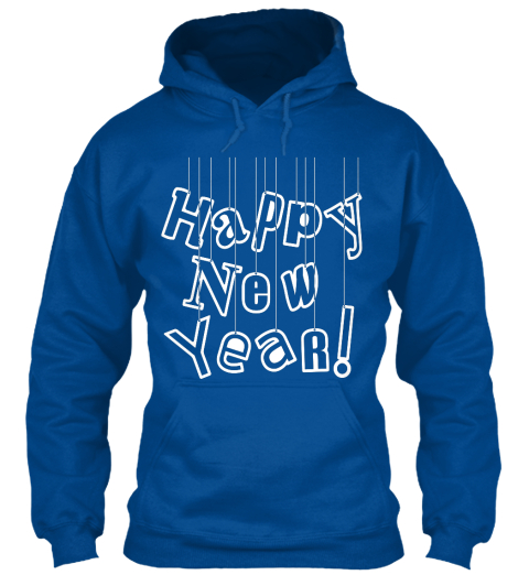 Happy New Year! Royal Sweatshirt Front