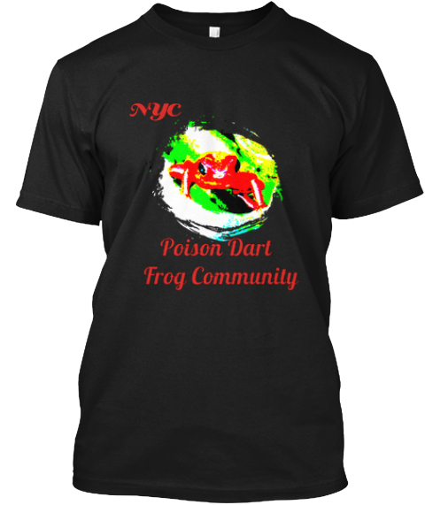 Nyc Poison Dart   Frog Community Black T-Shirt Front