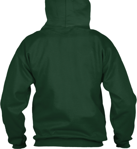 Hoodie Christmas Trees Happy New Year Forest Green T-Shirt Back