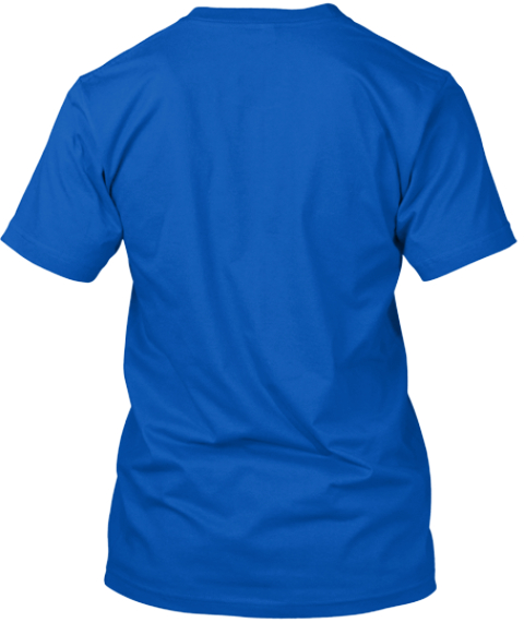 Html5 Colorado Flag Shirt Royal T-Shirt Back