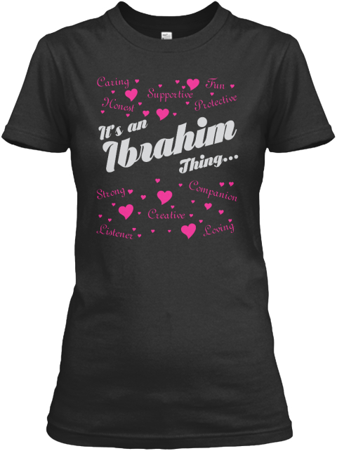 It's An Abraham Thing Black Women's T-Shirt Front