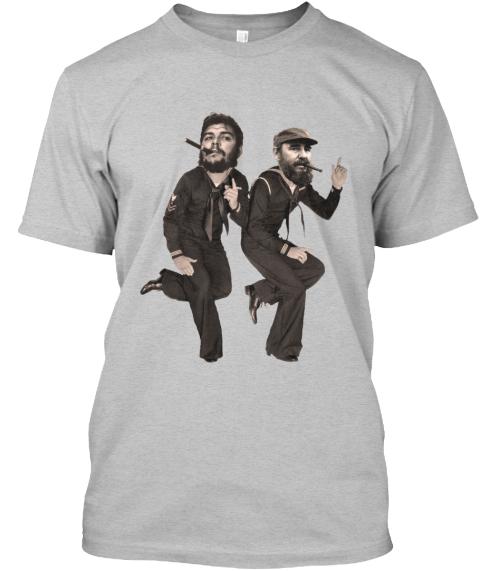 Fidel T Shirt Front Design Size