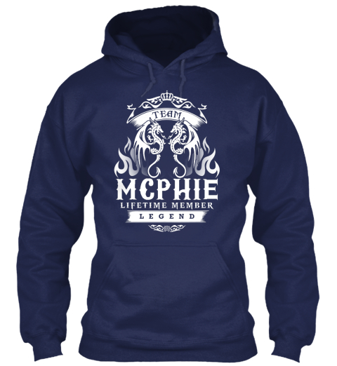 Team Mcphie Lifetime Member Legend Navy Sweatshirt Front