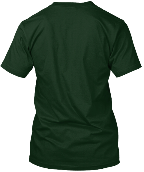 Cat Better Life Forest Green T-Shirt Back