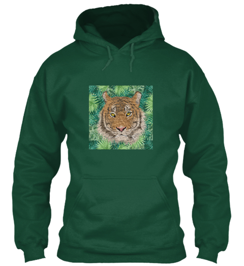 Well Hello Tiger Bottle Green T-Shirt Front