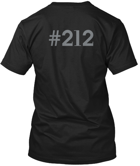 %23212 Black Camiseta Back