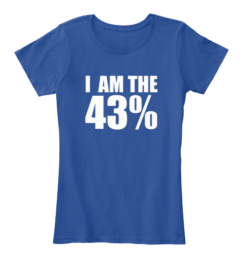 I Am The 43% Deep Royal  Women's T-Shirt Front