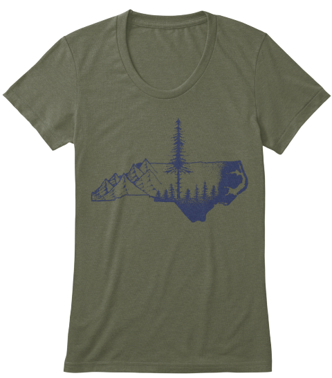 Wmns (Click For More Shirt Colors) Military Green T-Shirt Front