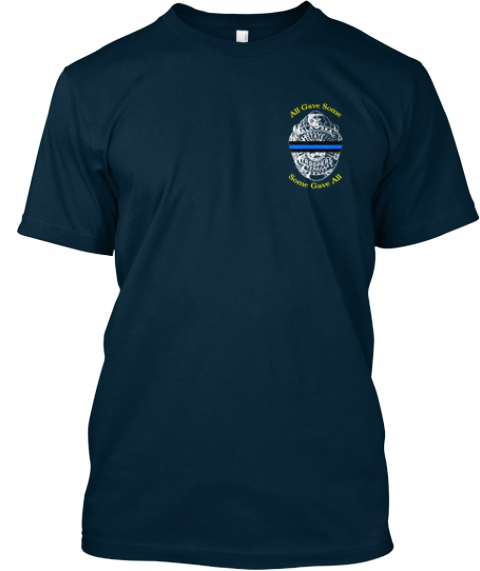 Remember Sgt. Johnson And Trooper Rich J Navy Camiseta Front