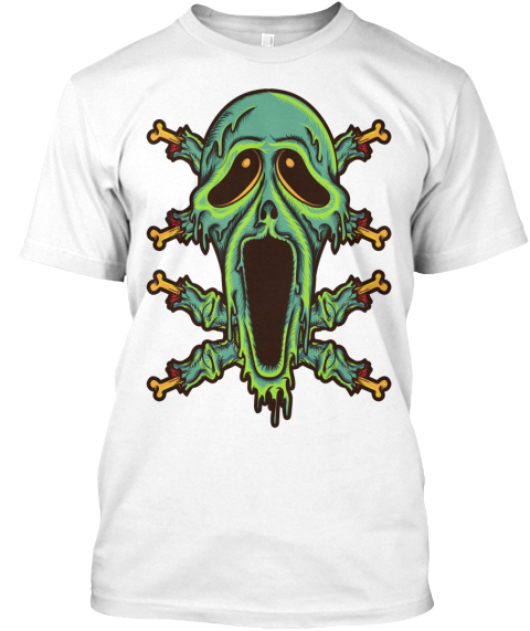 Zombie Smile White T-Shirt Front