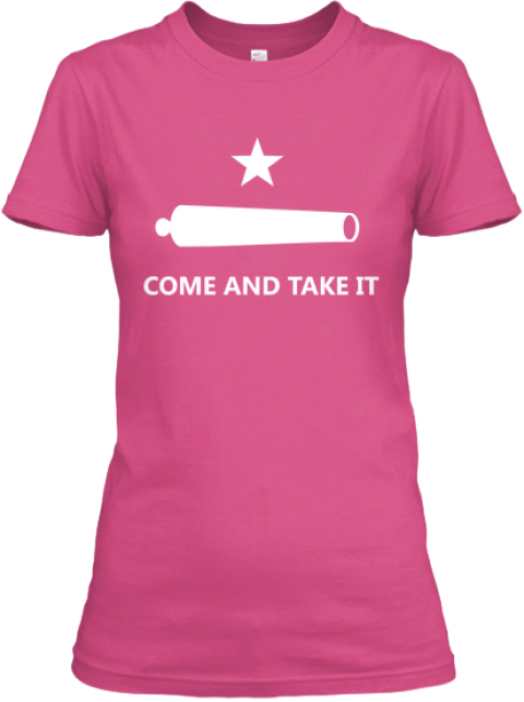 Limited Edition   Come And Take It! Wow Pink Women's T-Shirt Front