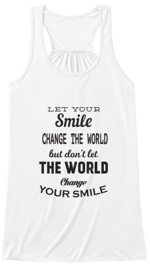 Change The World  White T-Shirt Front