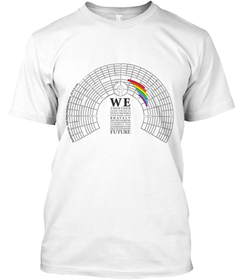 We Together Bravely Future White T-Shirt Front