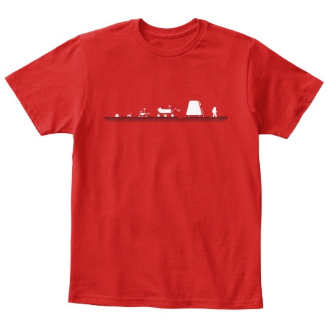 Evolution Of A Martian Kid [Int] #Sfsf Red T-Shirt Front