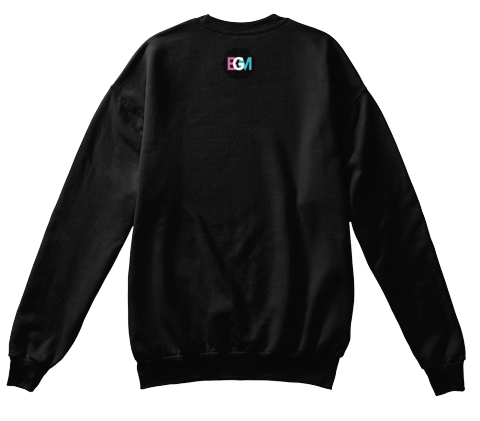 Egm Black Sweatshirt Back