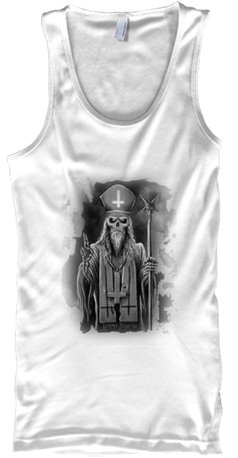 Awesome Undead Priest! Get It Now! White Tank Top Front