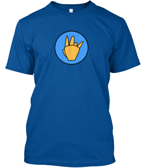The Vi Gang Sign Royal T-Shirt Front