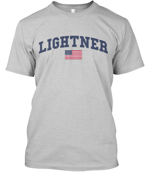 Lightner Family Flag Light Steel T-Shirt Front