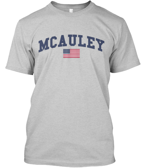 Mcauley Family Flag Light Steel T-Shirt Front