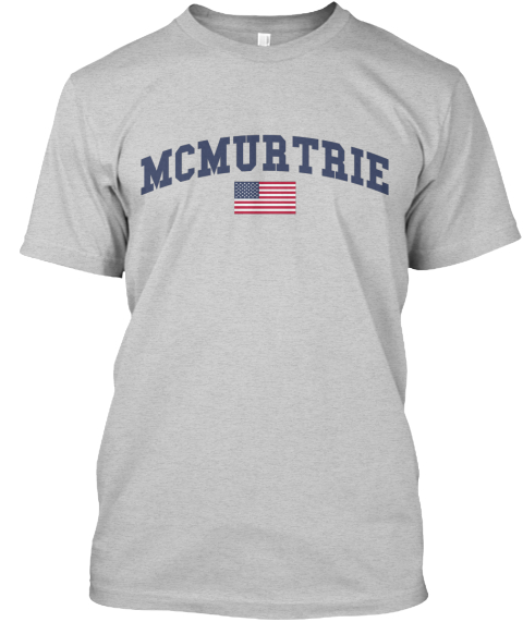 Mcmurtrie Family Flag Light Steel T-Shirt Front