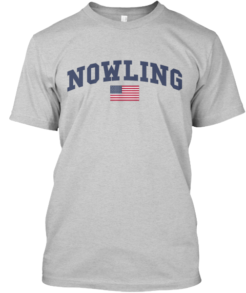 Nowling Family Flag Light Steel T-Shirt Front