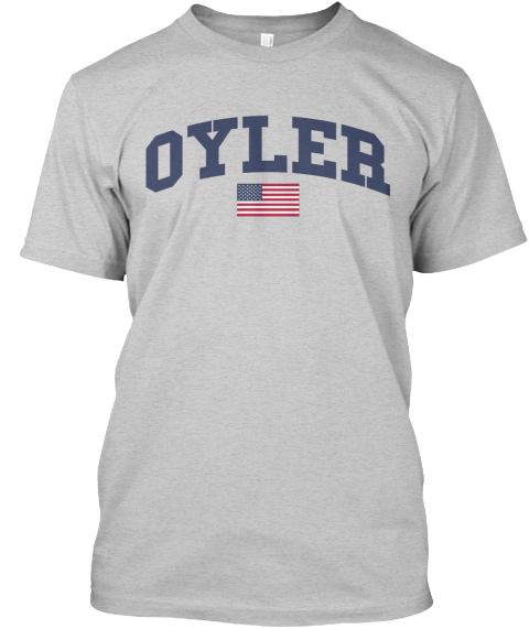 Oyler Family Flag Light Steel T-Shirt Front