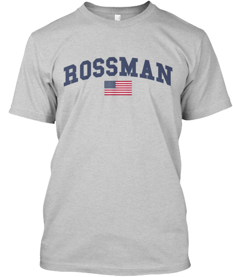 Rossman Family Flag Light Steel T-Shirt Front