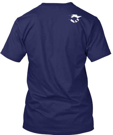 #Happy Friendship Day Navy T-Shirt Back