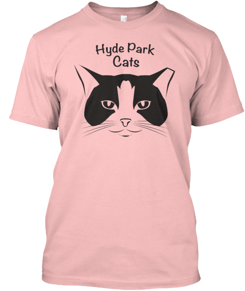 Hyde Park Cats: Spring Pink Pale Pink T-Shirt Front