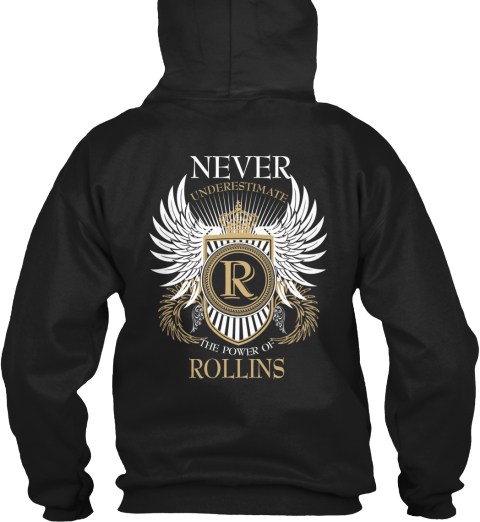 Limited Edition   Power Of Rollins Black T-Shirt Back