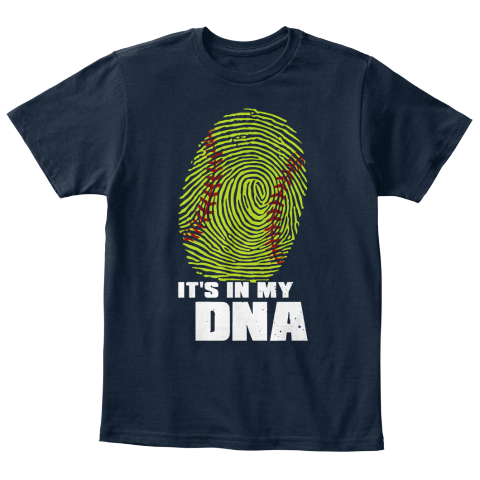 It's In My Dna New Navy T-Shirt Front