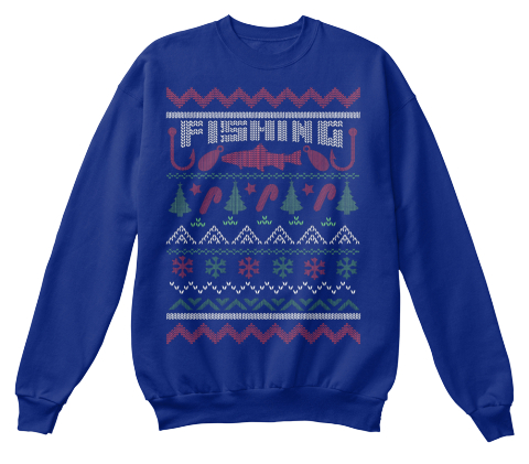 Fishing ugly christmas fishing products from x mas for Fishing ugly christmas sweater