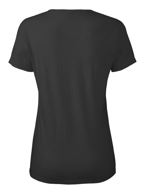 I Wear Pearl  Lung Cancer Awareness Black Women's T-Shirt Back