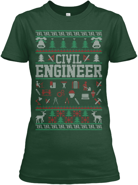 Civil Engineer Forest Green Women's T-Shirt Front