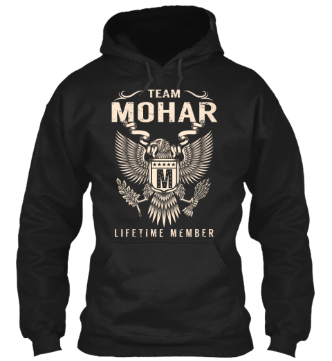 Team Mohar M Lifetime Member Black Sweatshirt Front