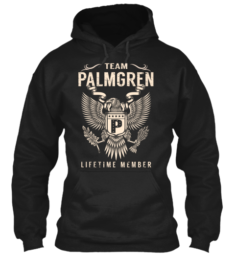 Team Palmgren Lifetime Member Black T-Shirt Front