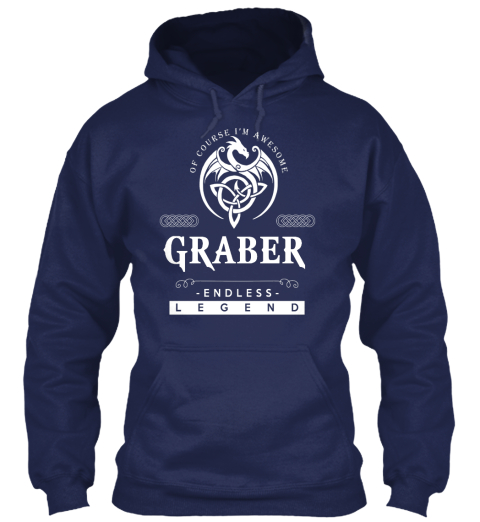 Of Course I'm Awesome Graber Endless Legend Navy áo T-Shirt Front