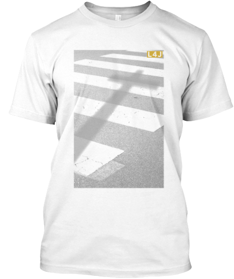 Limited Time Living For Jesus.Com Shirt!  White T-Shirt Front